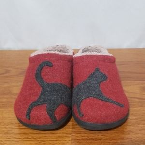 ll Bean Daybreak Scuff Wool Slipper Cat Desig